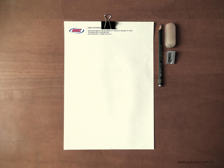 Mẫu thiết kế tiêu đề thư Công ty IEEC