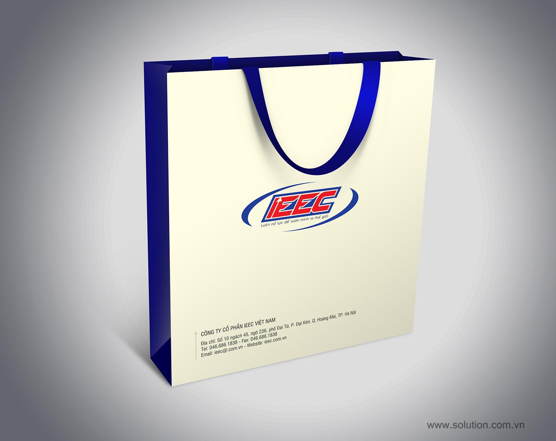 Mẫu thiết kế túi giấy Công ty IEEC