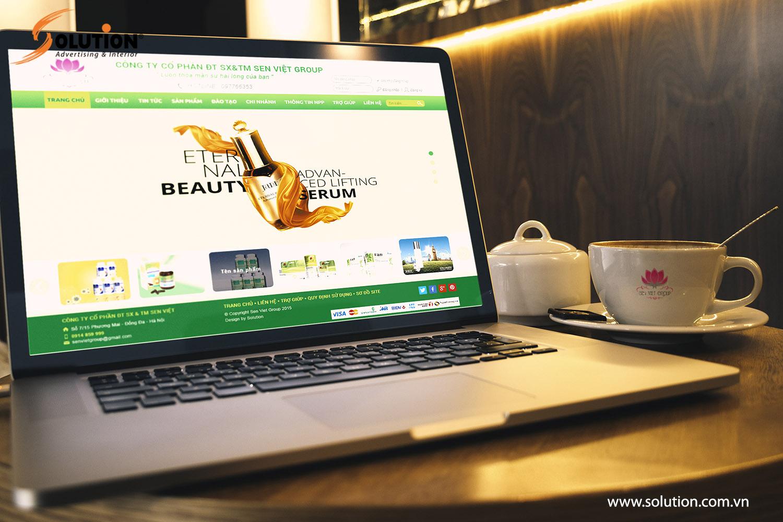 Mẫu thiết kế website Senvietgroup.vn của Công ty Sen Việt Group