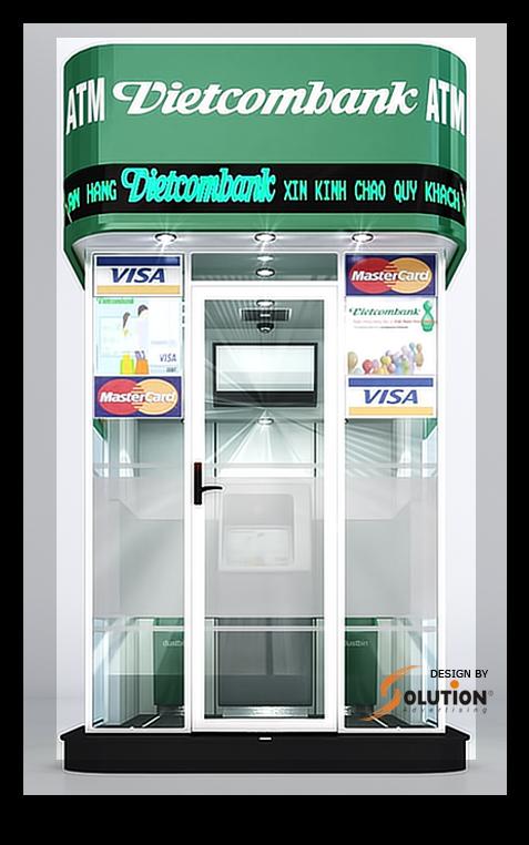 Mẫu thiết kế cây rút tiền atm ngân hàng VCB