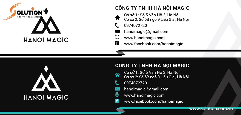 Mẫu chân chữ ký trong thiết kế bộ nhận diện thương hiệu của Hanoi Magic