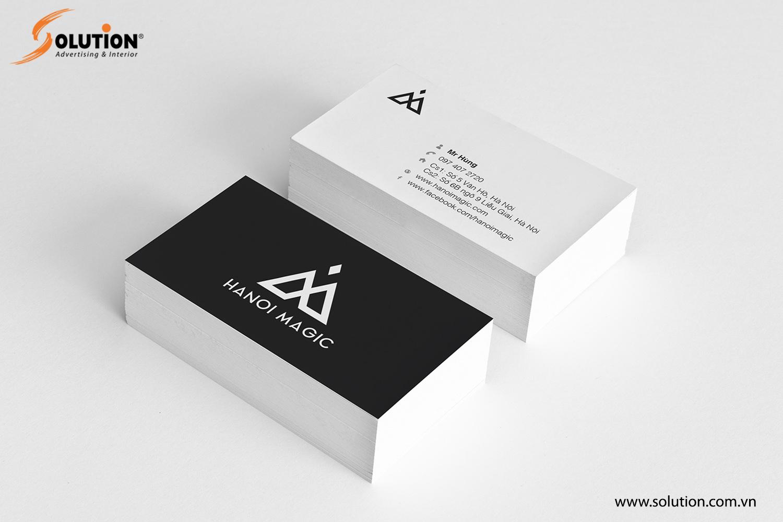 Mẫu thiết kế name-card trong bộ nhận diện thương hiệu Hanoi Magic