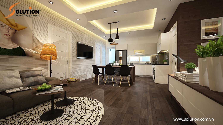 Thiết kế nội thất chung cư cao cấp hiện đại của Solution