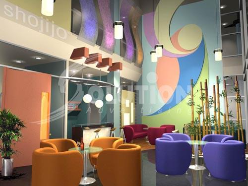 Mẫu thiết kế quán Bar, Coffe đa màu sắc tạo cảm giác mới lạ