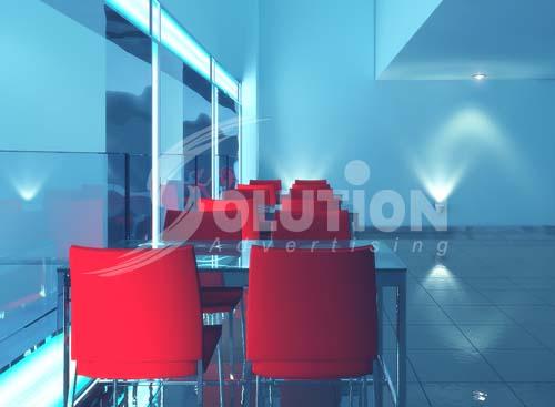 Mẫu thiết kế nội thất quán Bar, Coffe với tông màu xanh nước biển cuốn hút