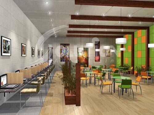 Mẫu thiết kế nội thất quán Bar, Coffe sang trọng hiện đại