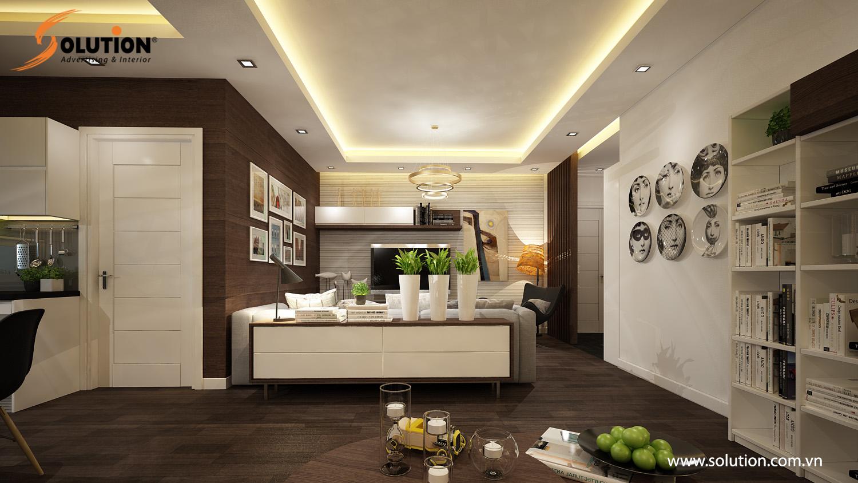 Không gian căn hộ chung cư cao cấp sẽ được tối ưu khi sử dụng dịch vụ của Solution