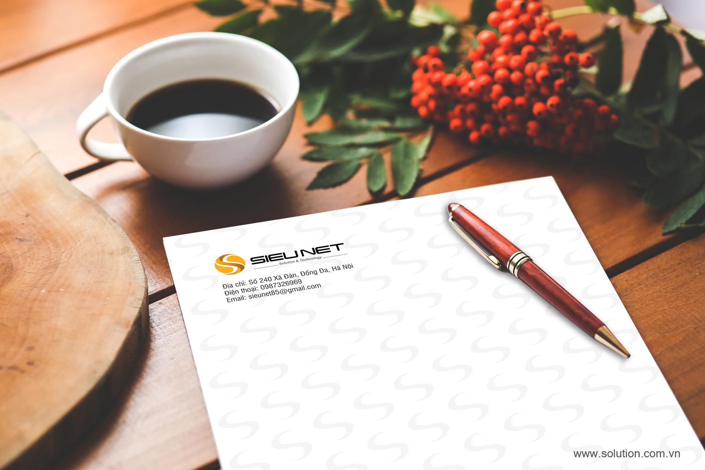 Mẫu tiêu đề thư Công ty SIEU NET
