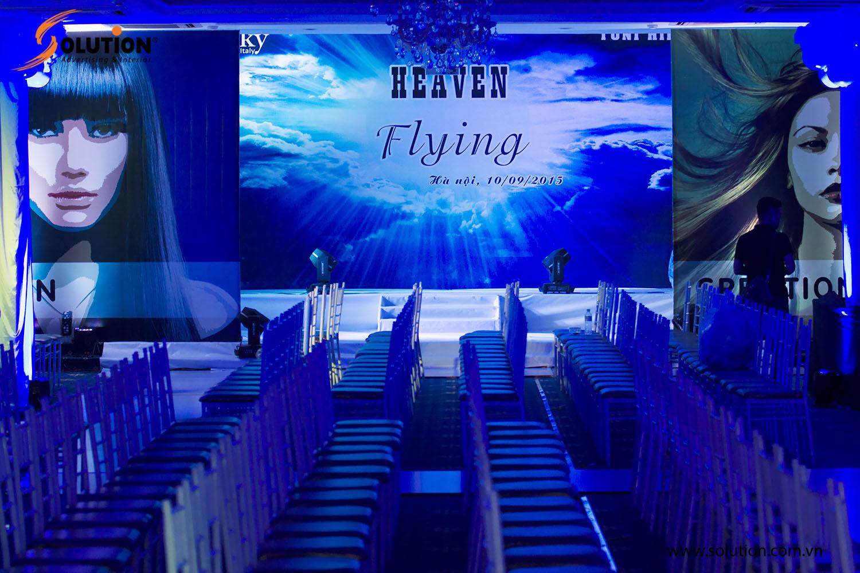 Toàn cảnh hội trường sân khấu tổ chức sự kiện giới thiệu sản phẩm Silky được tổ chức bởi Solution
