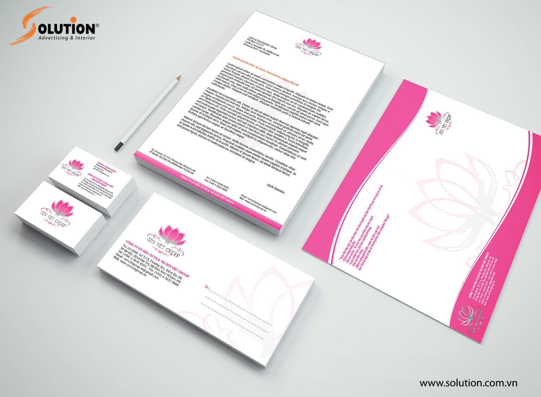 Hình ảnh tổng thể hệ thông nhận diện thương hiệu Công ty Sen Việt Group