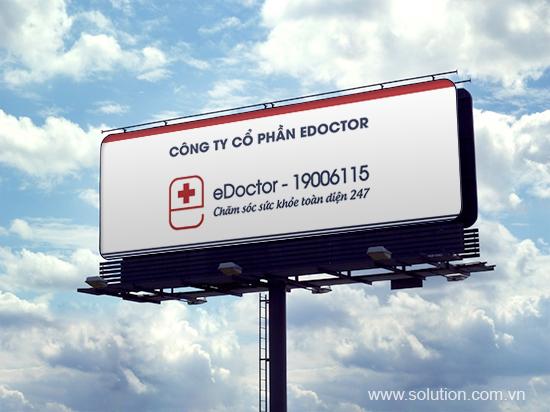 Thiết kế bảng hiệu - Bộ nhận diện thương hiệu eDoctor
