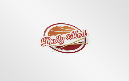 logo bộ nhận diện thương hiệu chuỗi cửa hàng ăn daily meal