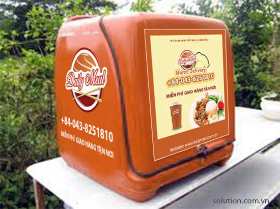 Thùng chở hàng chuỗi cửa hàng ăn tự phục vụ Daily Meal