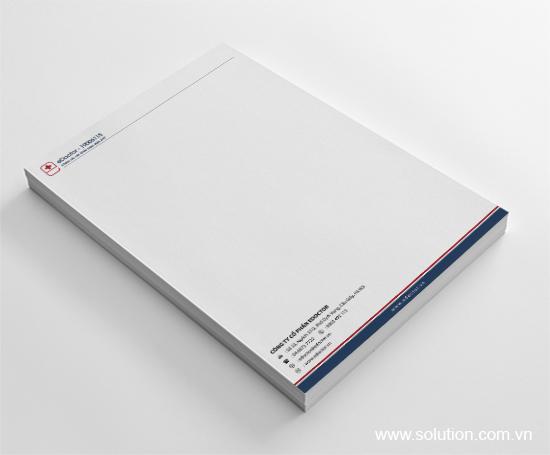 Thiết kế letterhead Edoctor