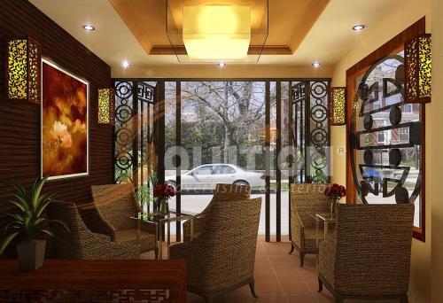 Thiết kế nội thất quán cafe xinh