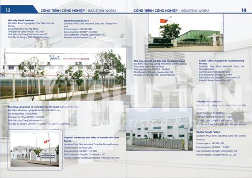 Mẫu thiết kế catalogue công ty cổ phần đầu tư xây dựng phát triển Đông Đô