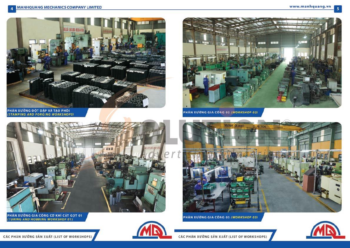 thiết kế catalogue công ty cơ khí Mạnh Quang