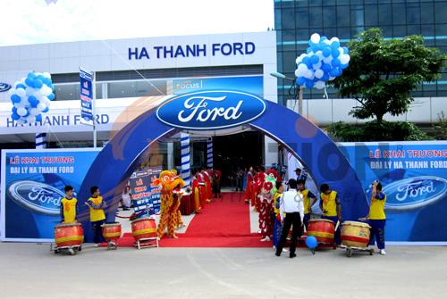 Tổ chức sự kiện lễ khai trương đại lý Hà Thành Ford, Đội múa lân