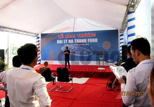 Tổ chức sự kiện lễ khai trương đại lý Hà Thành Ford, tổng duyệt