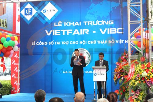 Ông Sung Feng Quan Giám đốc VIBC phát biểu khai mạc buổi lễ khai trương