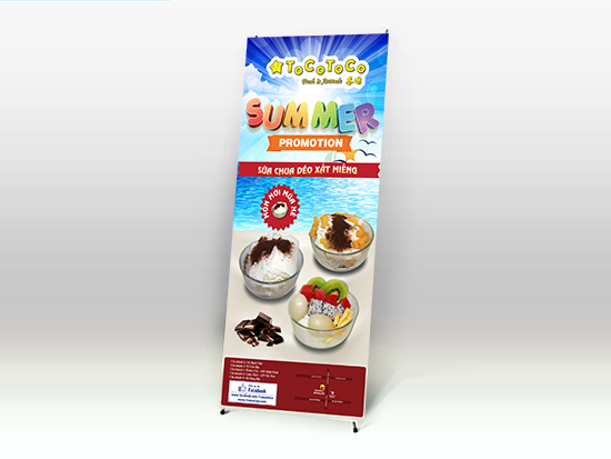 Mẫu thiết kế standee Cafe Take Away Tocotoco