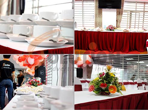 Buổi lễ được chuẩn bị công phu với tiệc ngọt cuối buổi
